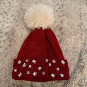 America Girl knit Pom Pom hat